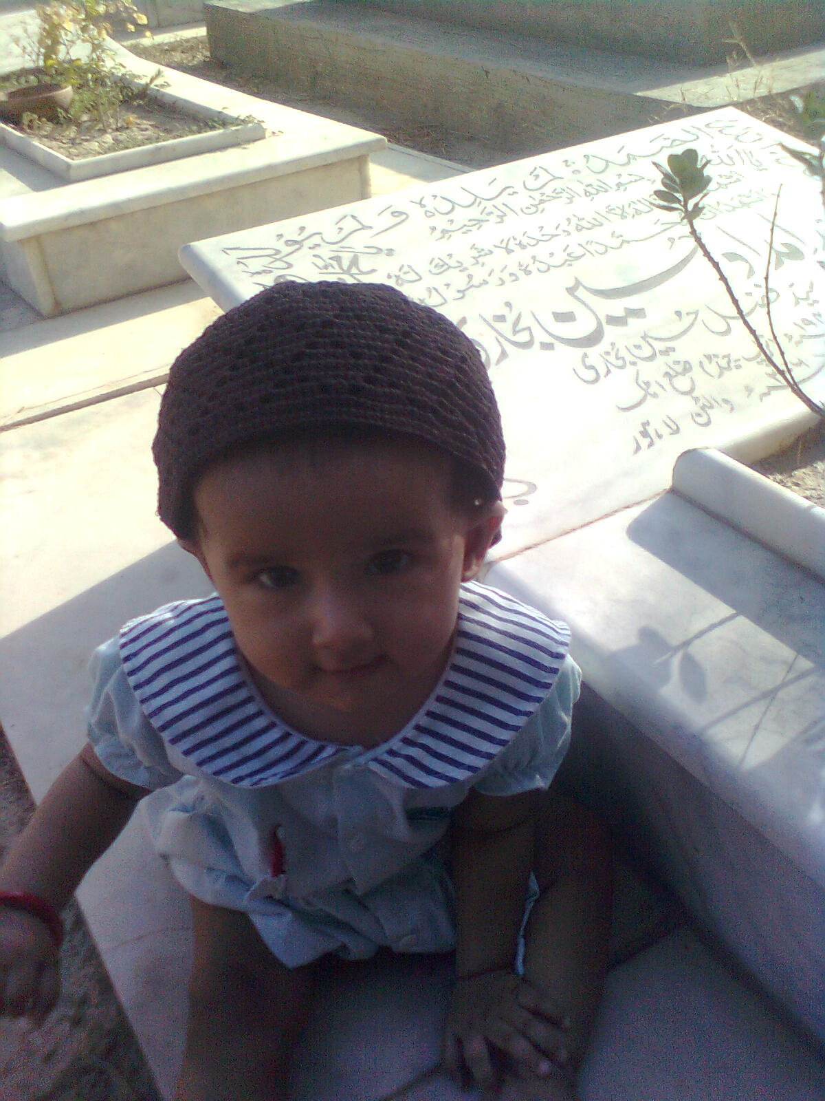 Grand Daughter at Shrine for Fatiha Khawani