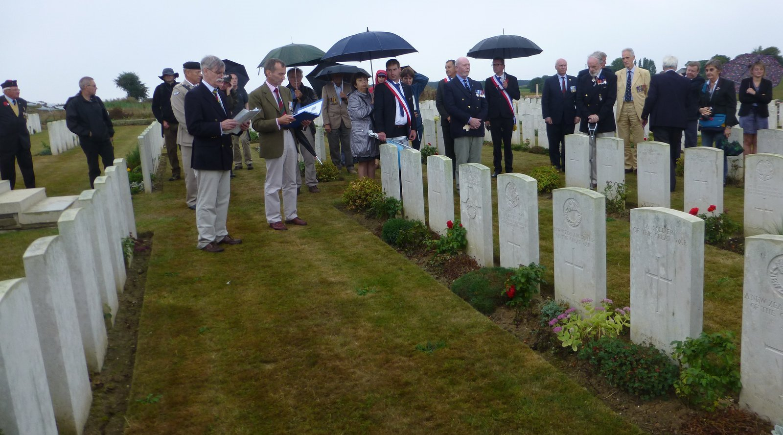 Remembering the fallen at Bulls Road cemetery