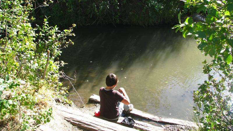 Tim at the creek