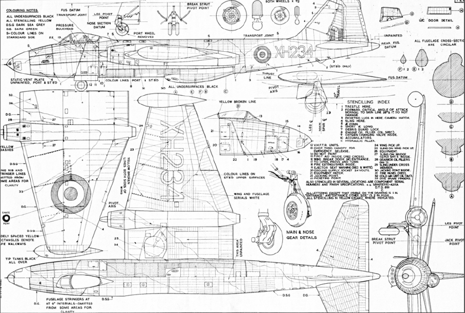 Canberra Amp B 57 Plans And Drawings Ipms Uk Canberra Sig