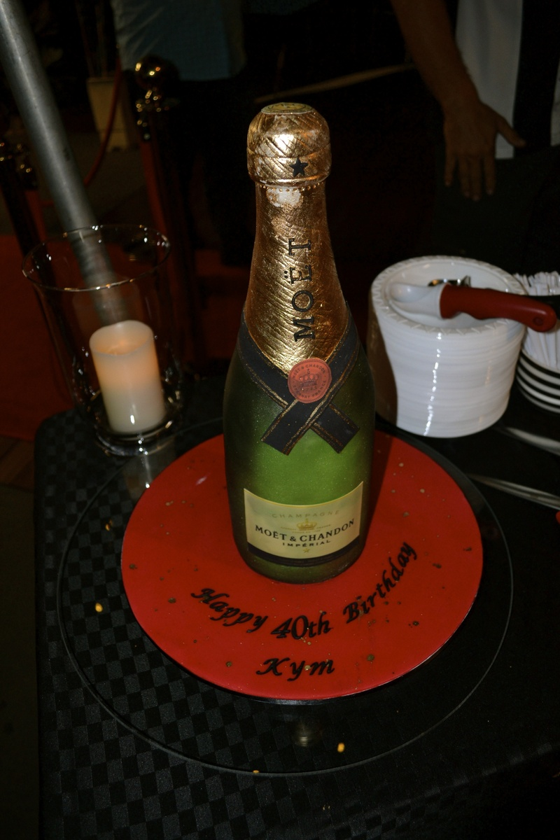 Kym's Moet Champagne Bottle