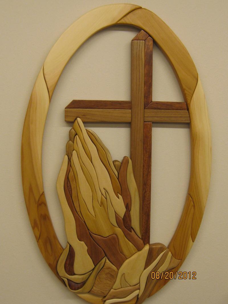 Praying hands iii rako woods custom intarsia wood art