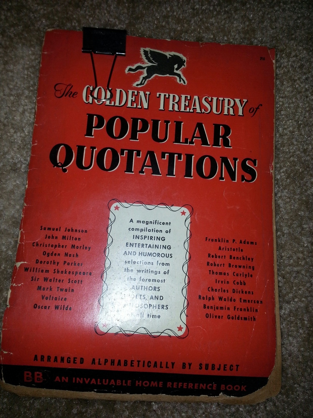 the golden treasury of popular quotations