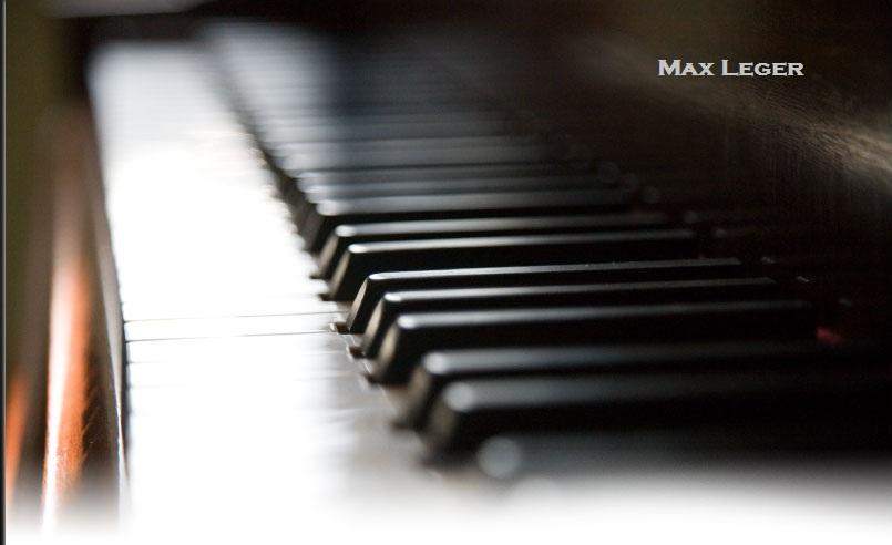 piano wallpapers. Max Leger - Piano Wallpaper
