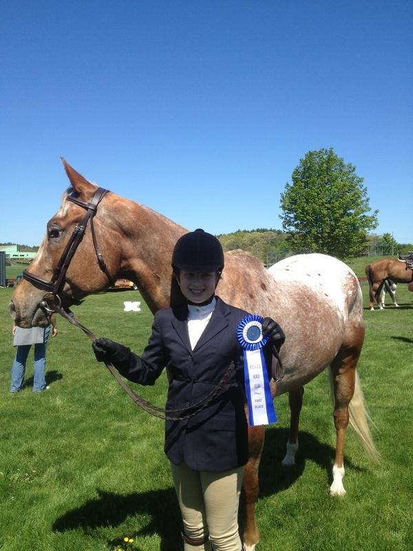 Meghan & Vinni, 1st place in walk trot equitation