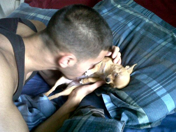 she LOVES kisses on her tummy!