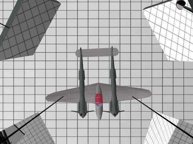 Plane in testing.