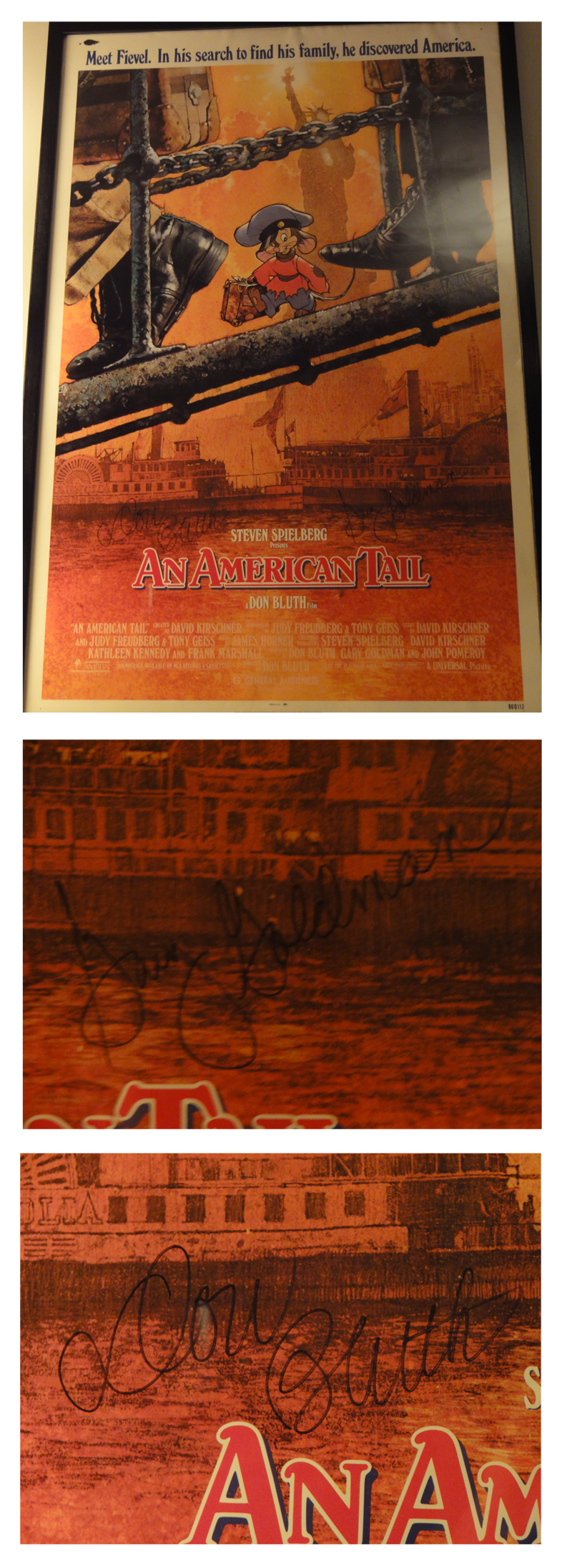An American Tail 1986 Autographied Poster