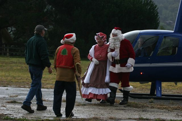 Randy & Dave Greeting Santa & Mrs.