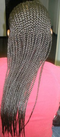 cornrow front/individual