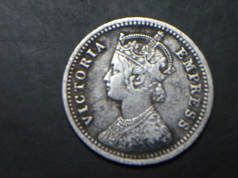 1/4 Re.1878 Victoria Empress (Obverse)