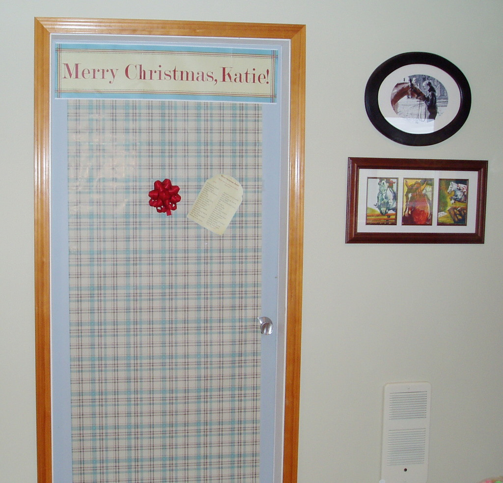 Laundry Room Door - Make Over Day!