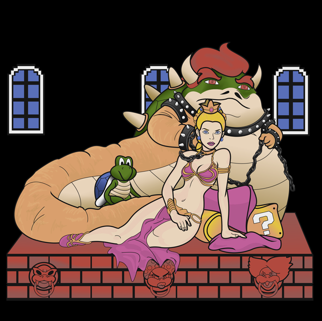 Bowser the Hutt and Slave Princess Toadstool