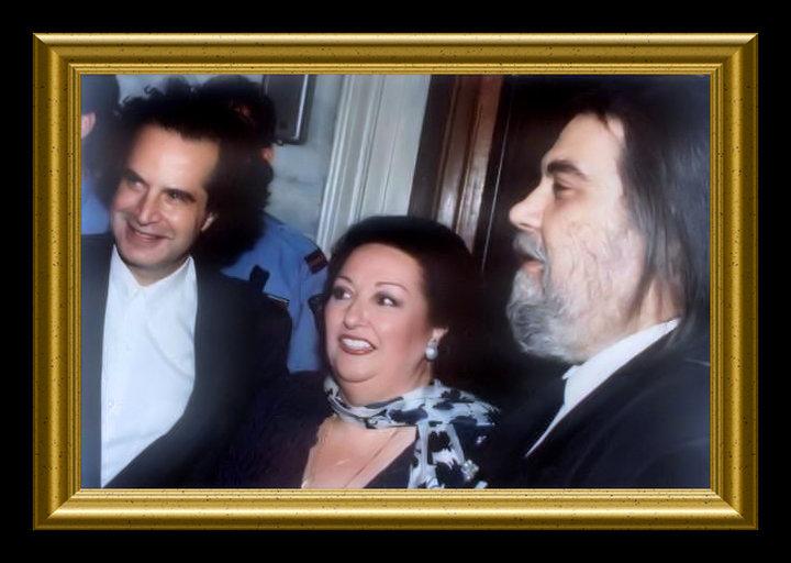 Konstantinos Paliatsaras with Montserrat Caballe and Vangelis