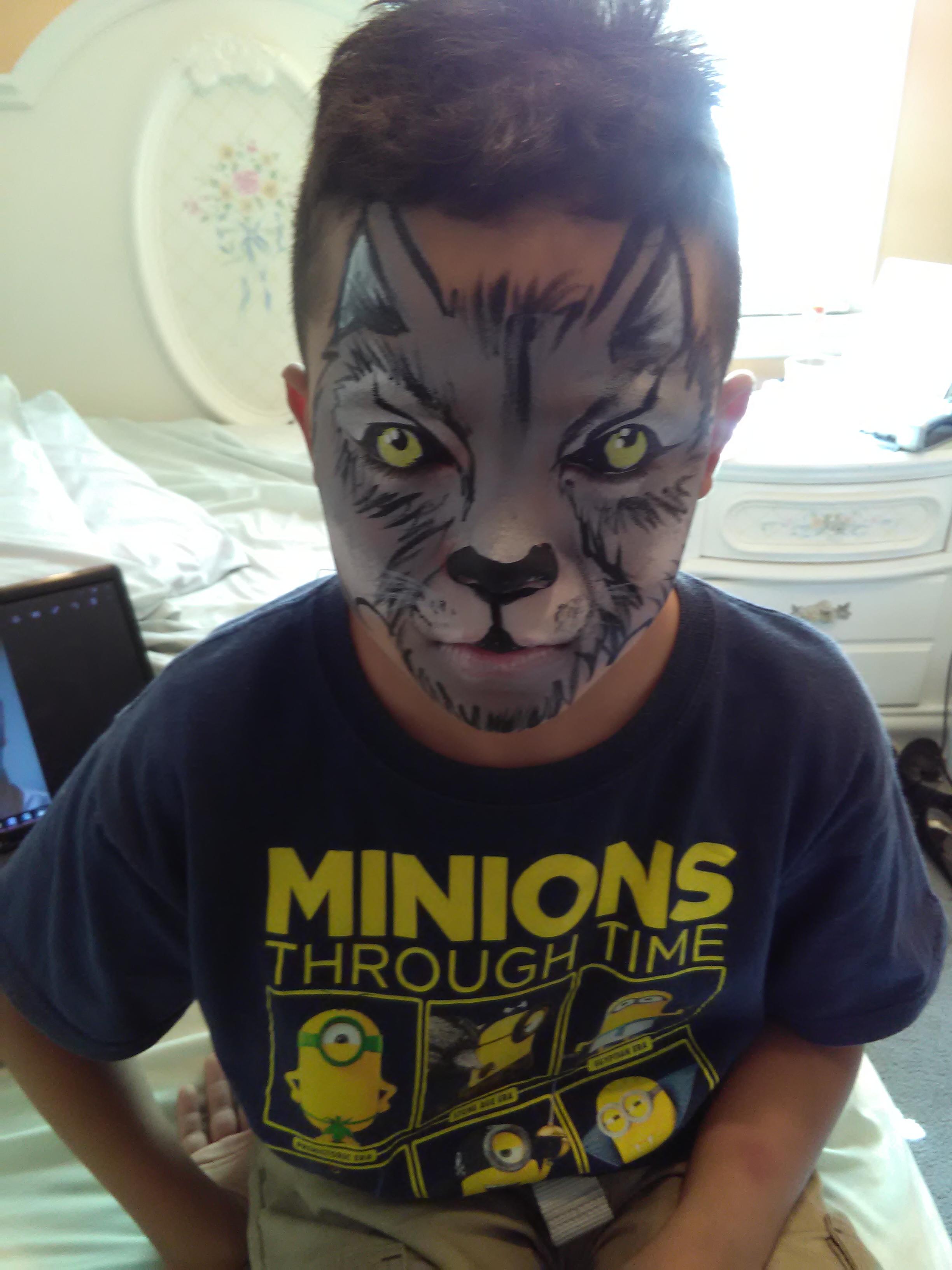 Werewolf face paint