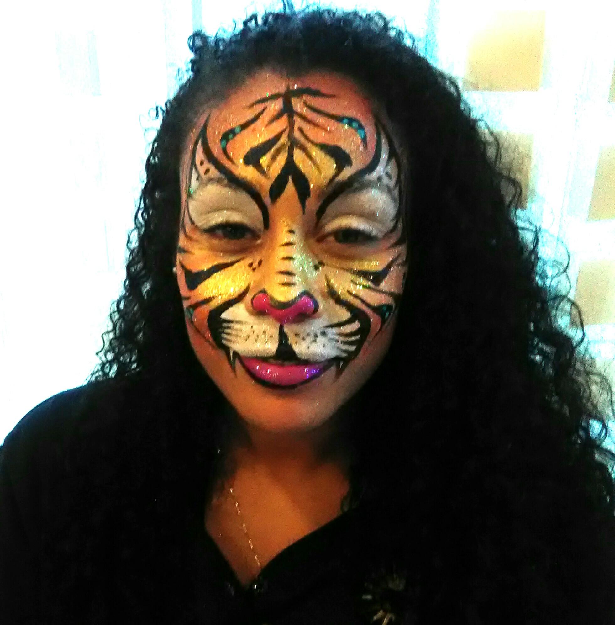 Tigress face paint