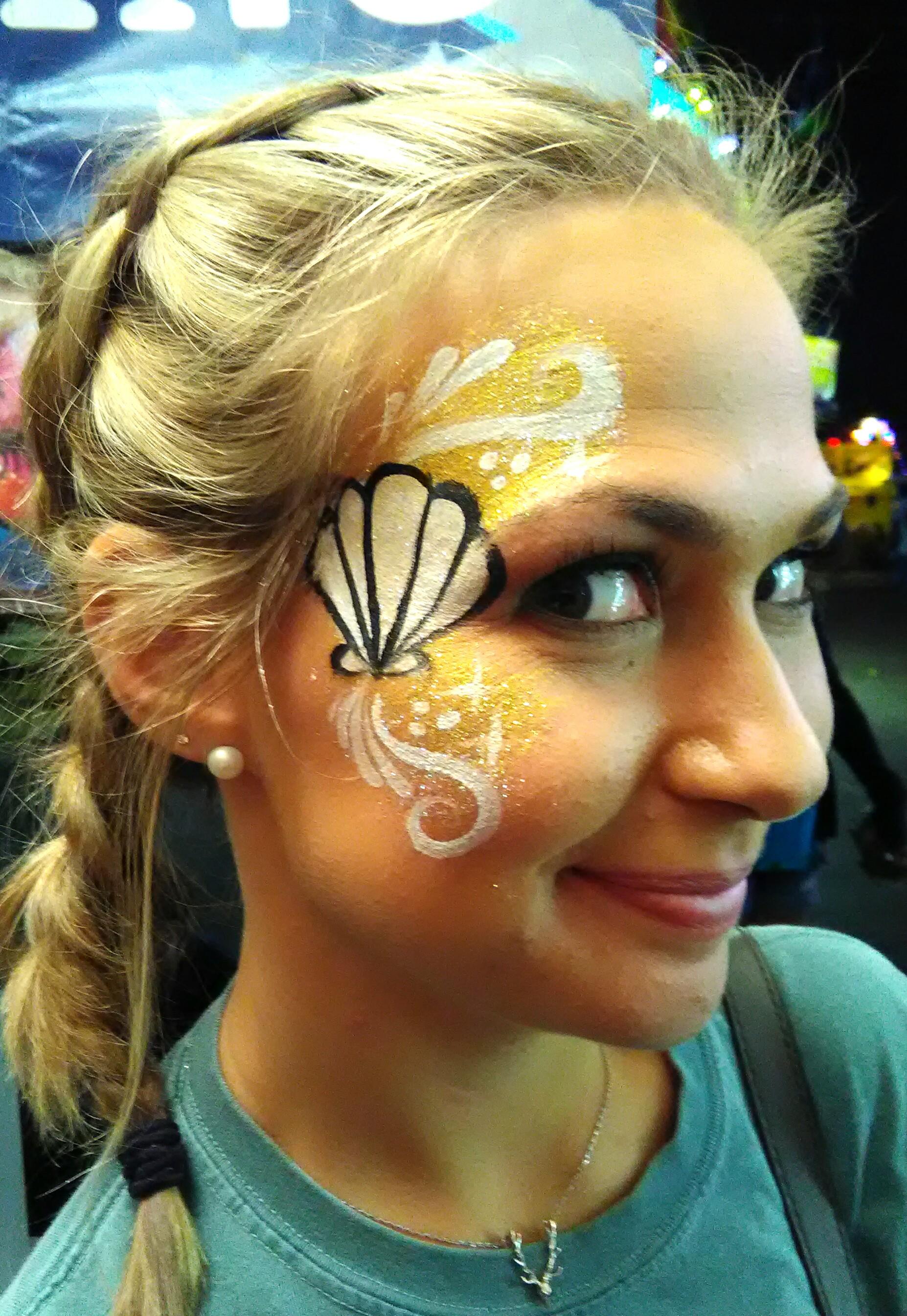 Seashell Swirl Face Painting
