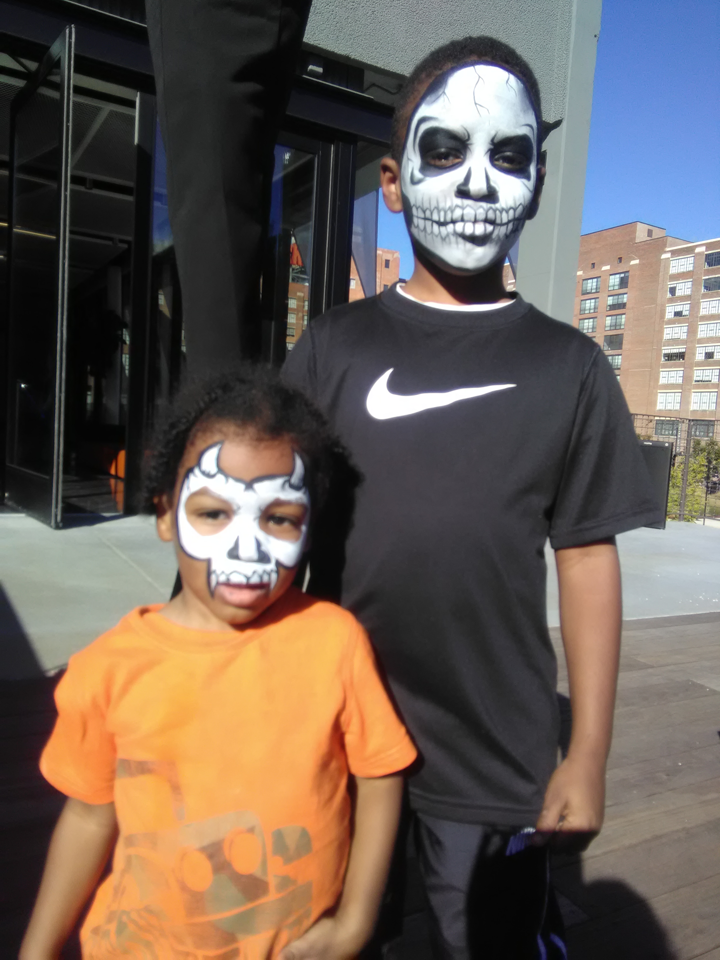 Google Fiber Event- Skulls face painting