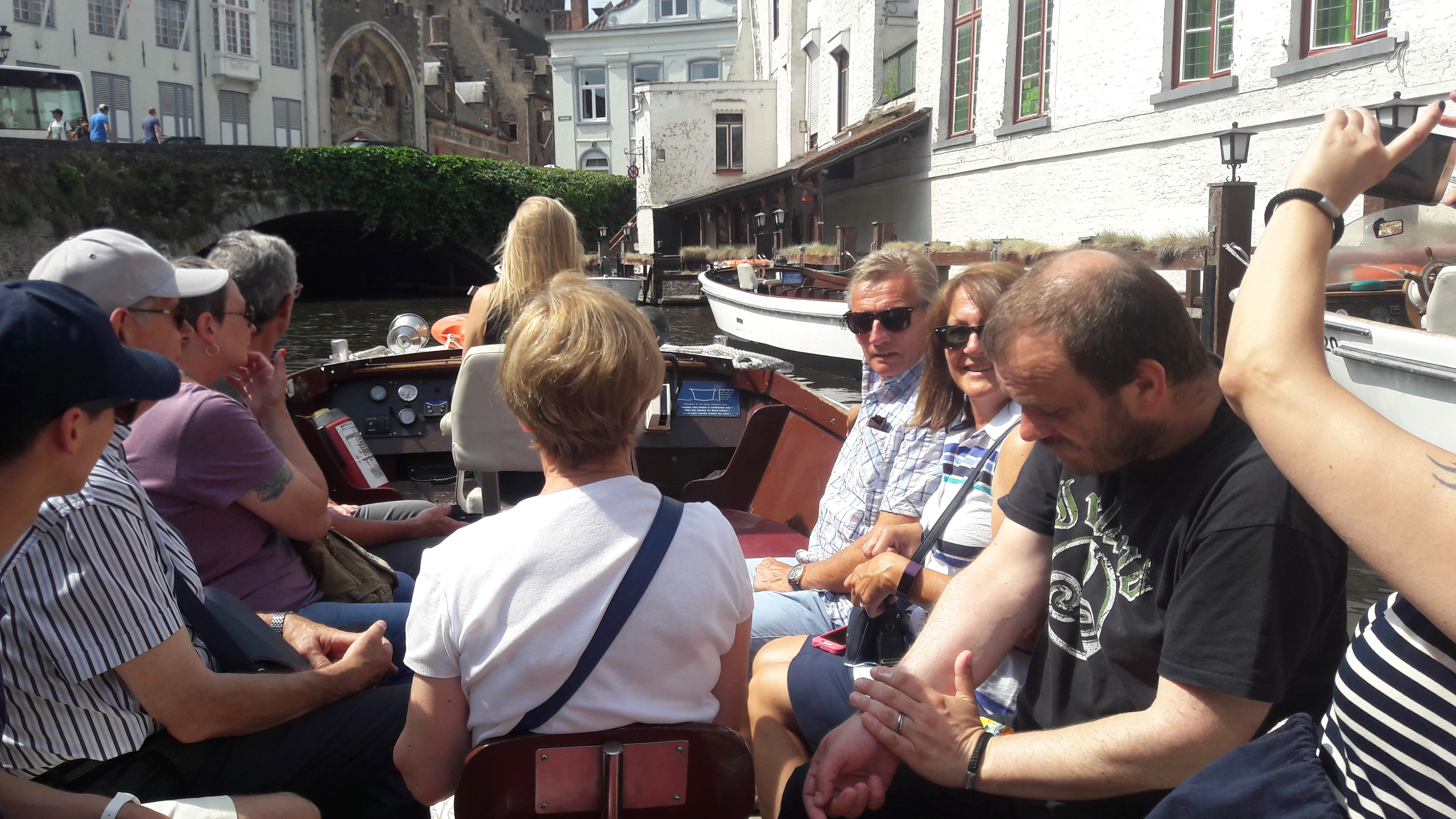 On the boat at Bruges