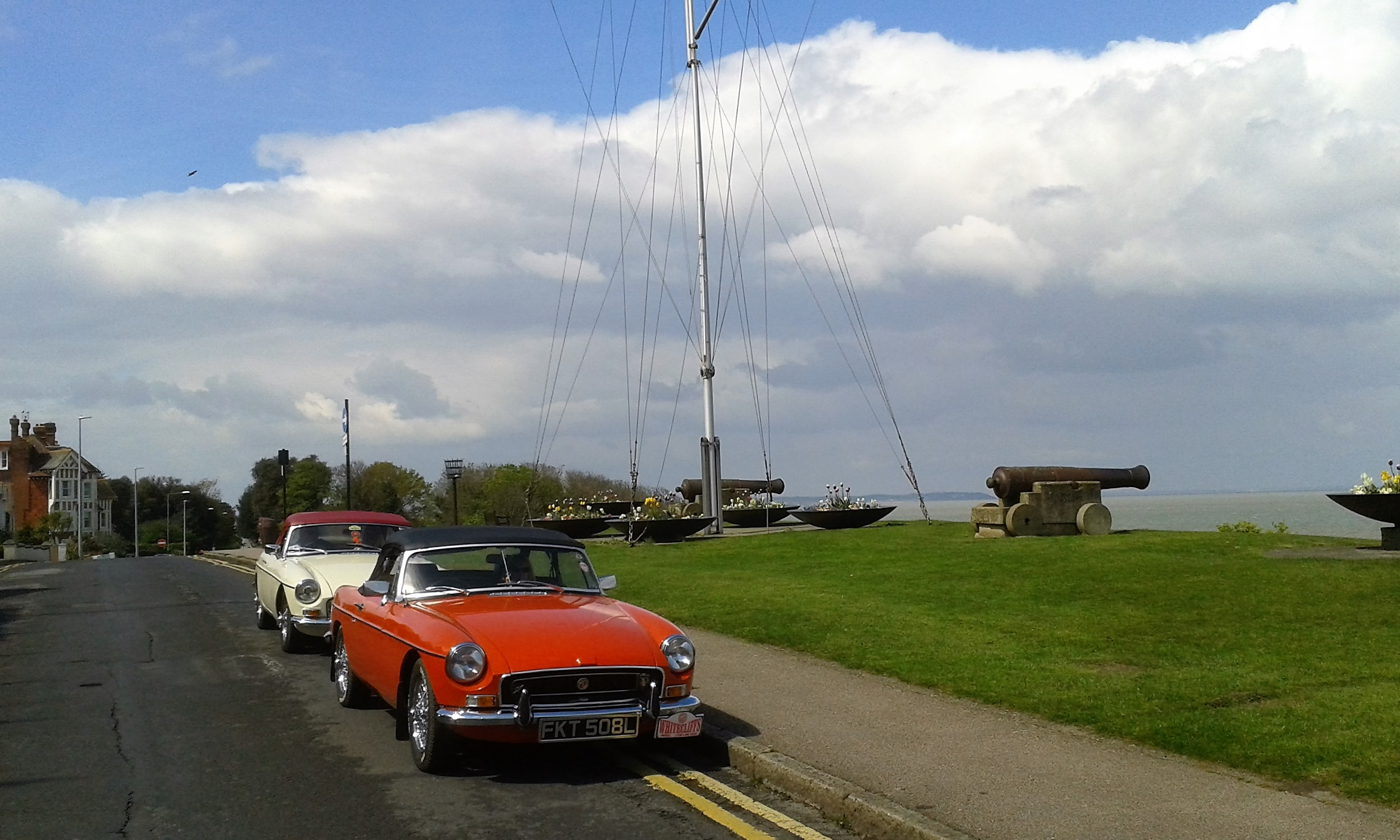 Steve and Rick's cars at Whitstable Tankerton Slopes