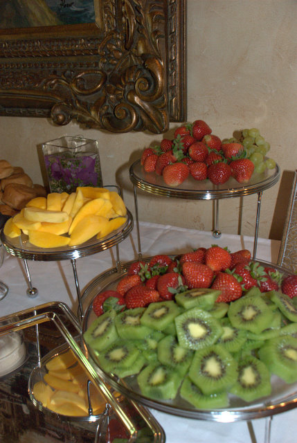 Tiered Plates with fruit