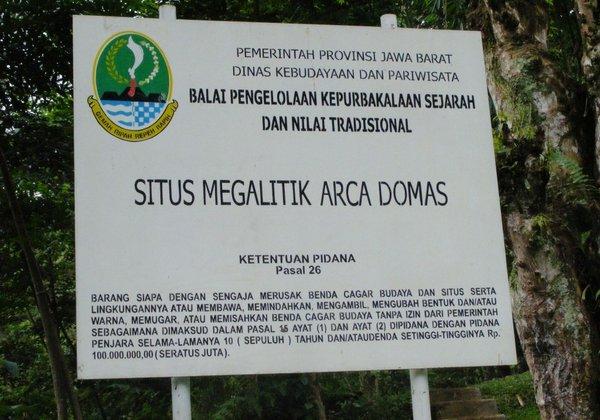 Situs Megalitik Arca Domas,Bogor