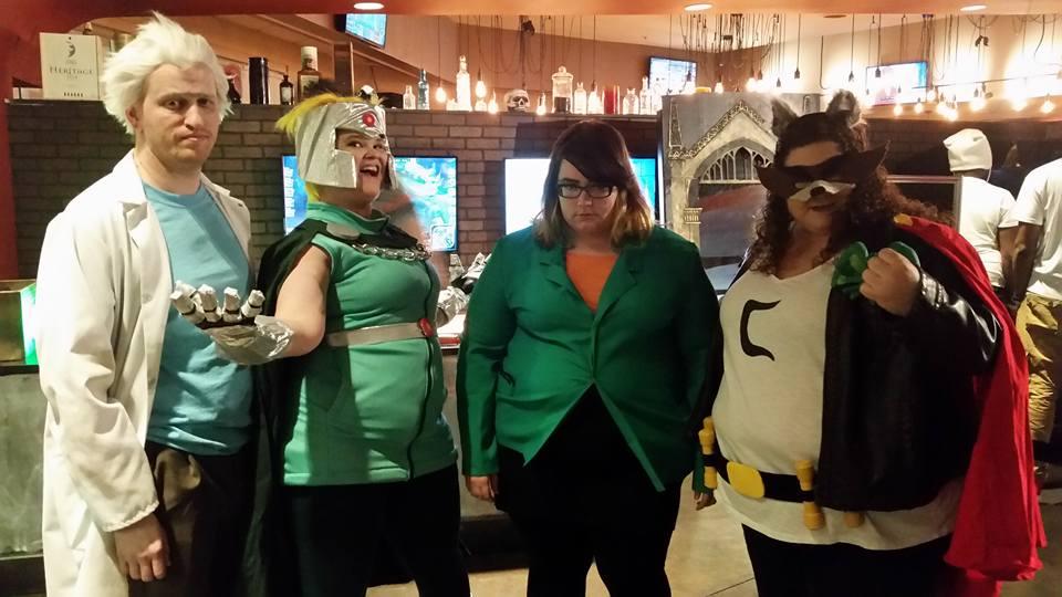 Rick, Professor Chaos, Daria, and Coon
