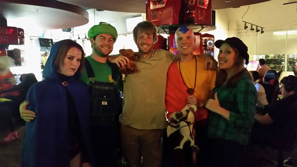 Raven, Luigi, Shaggy with Scooby, Aang, and Wendy