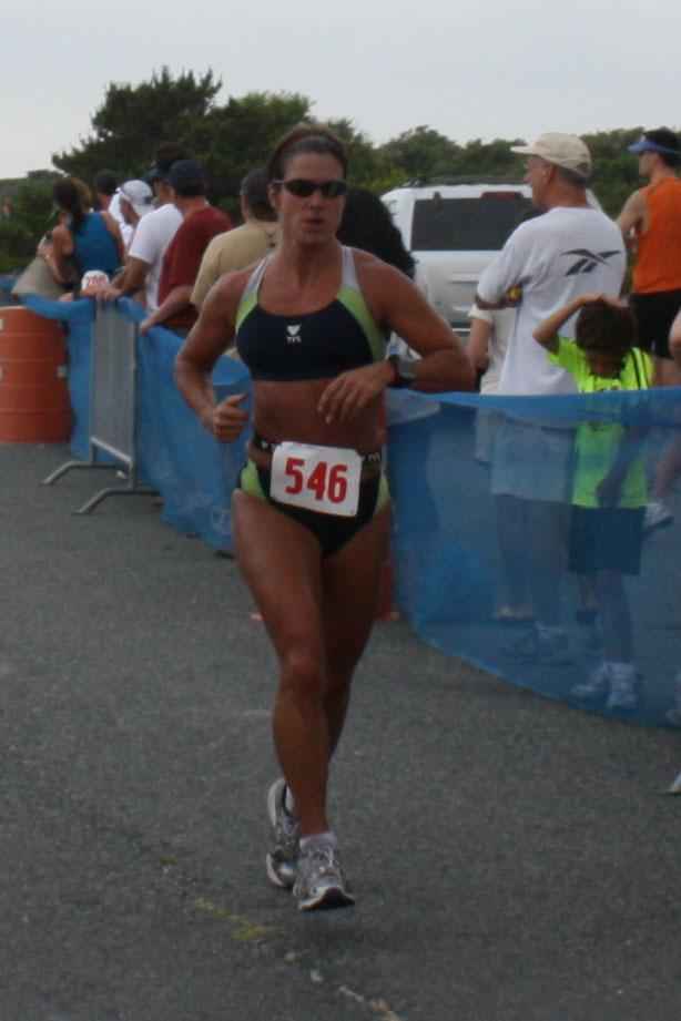 Beth at finish