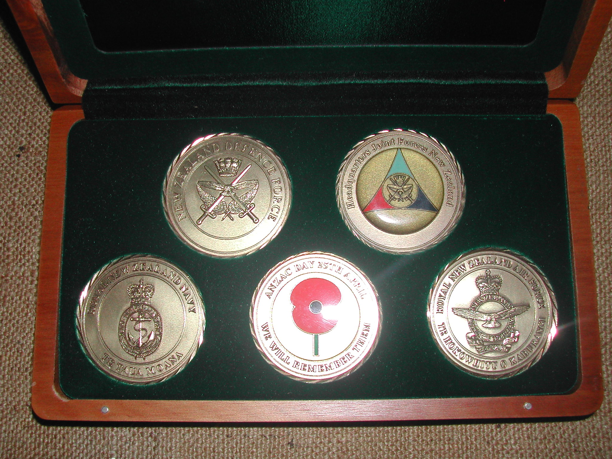 NZ Defence Challenge Coins