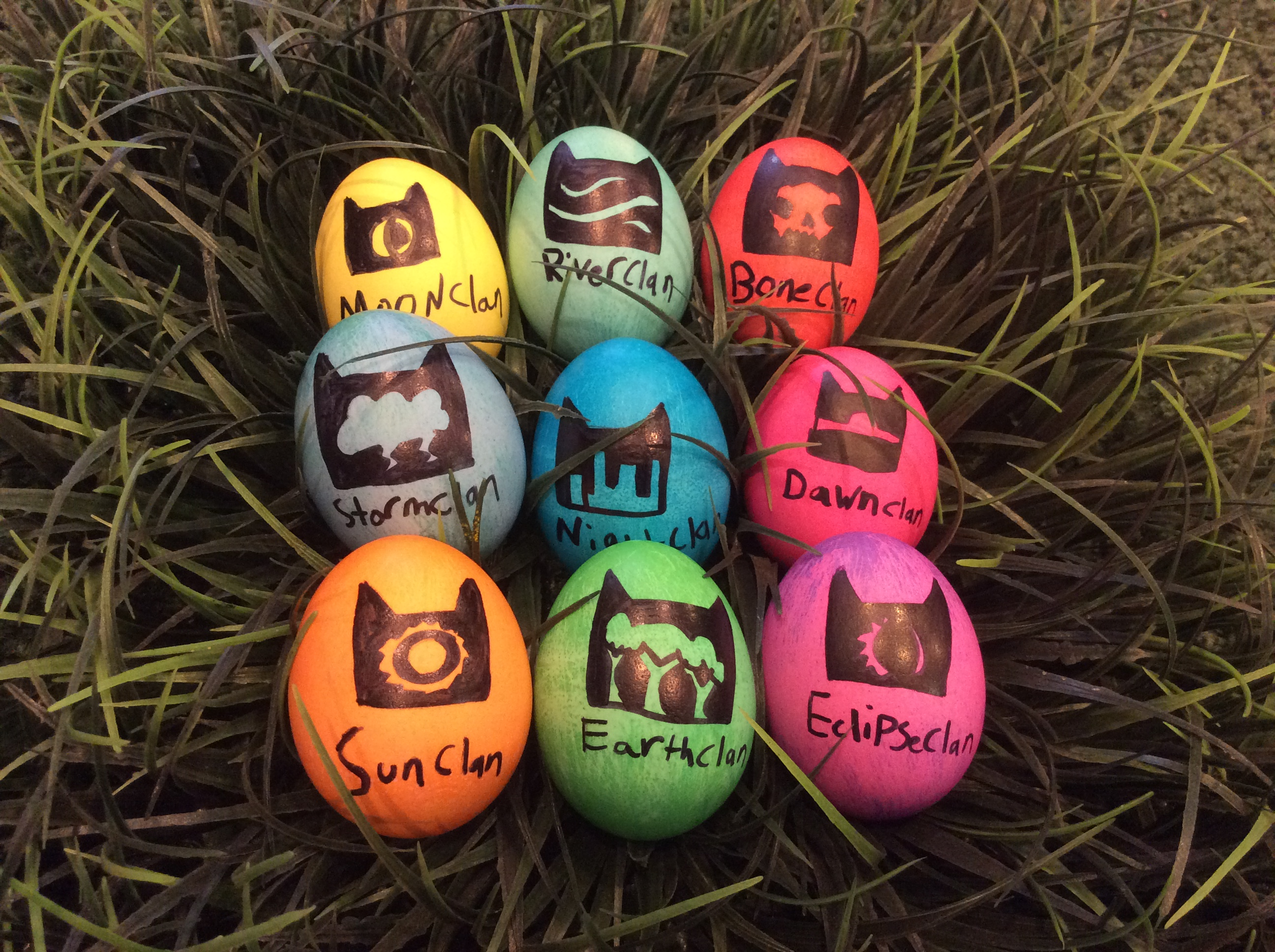 Easter eggs-all the clans