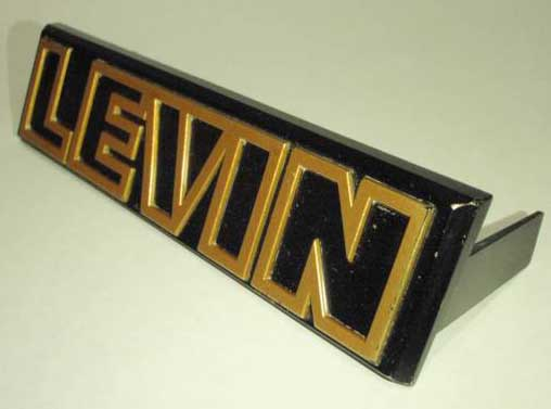 Rare LEVIN Grille Badge GENUINE