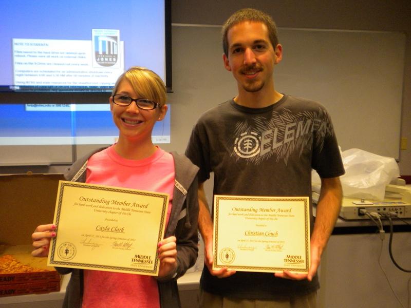 Outstanding Members Spring 2012