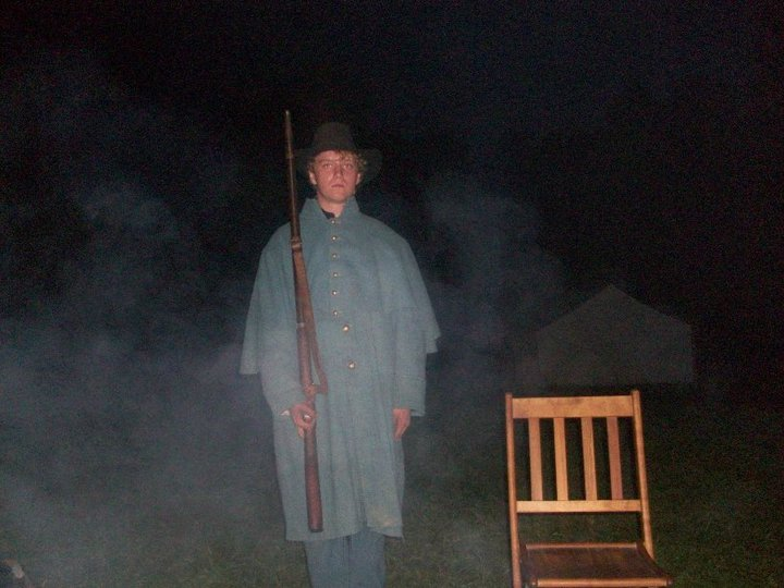 Pvt Krieg Hamm and his new greatcoat