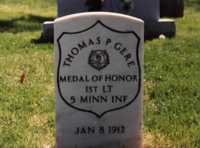 Thomas Gere's gravestone