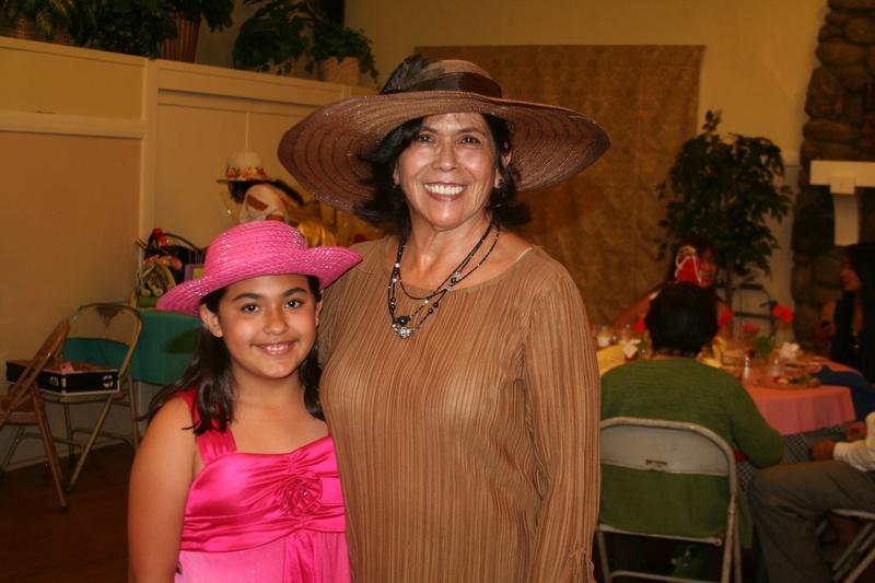 member Sandra with granddaughter