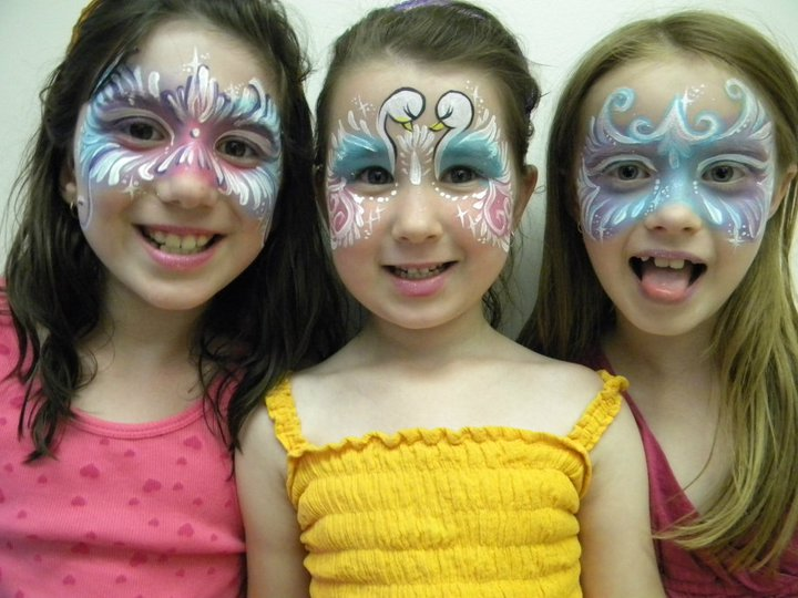 pastel fairy masks and swan design