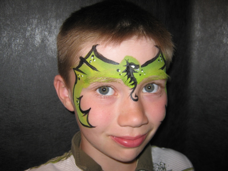 Gallery For gt Face Painting Dragon Mask