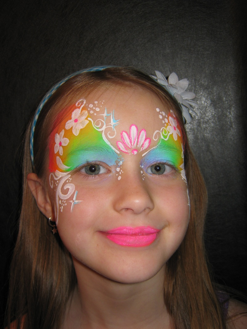 flowery eye mask
