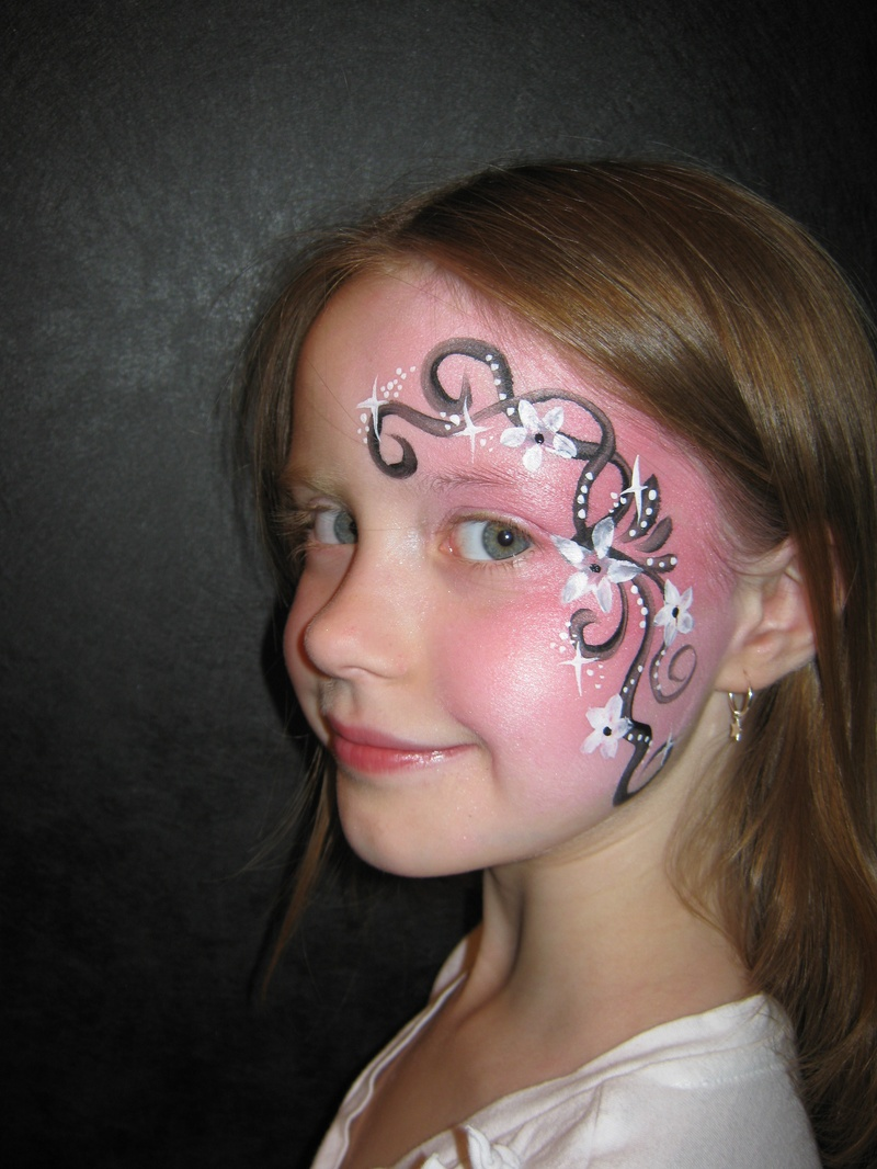 swirls and flowers eye design