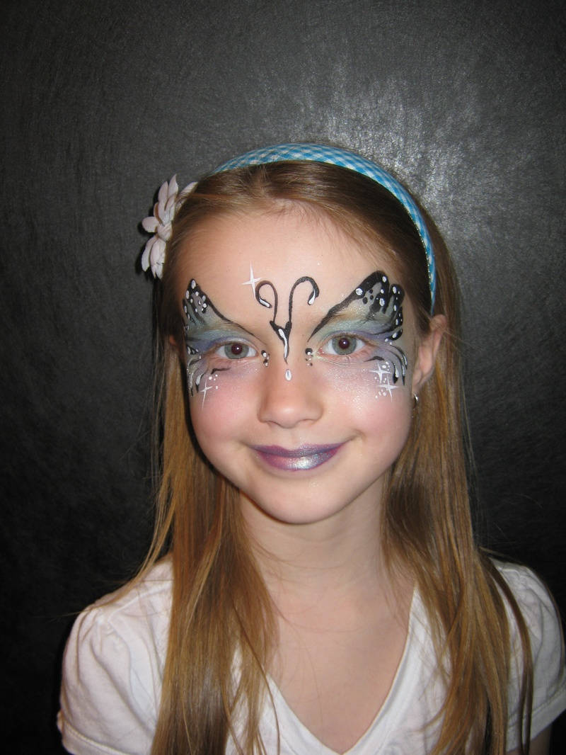 artsy butterfly using ben nye powders