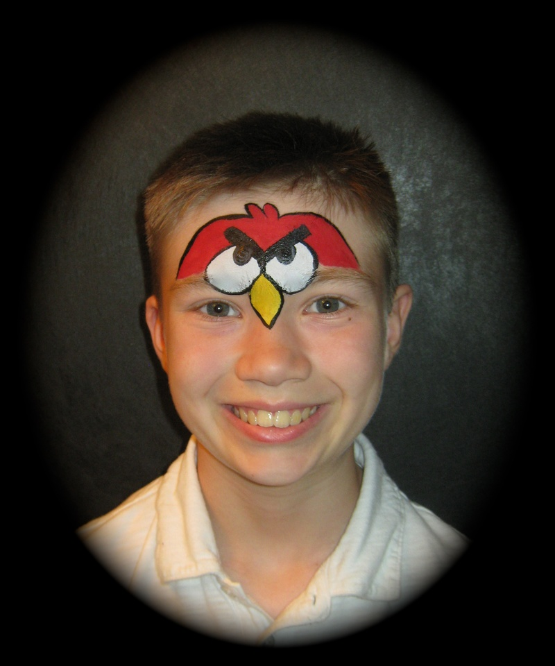 Angry Birds Face Painting Designs