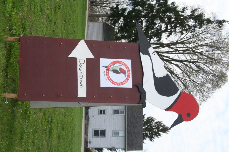 Woodpecker  Directional Sign