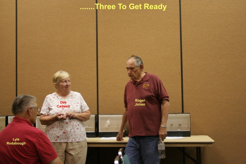 Lyle Rodbough (seated), Dee Cadwell & Roger Joiner - 6-18-2011