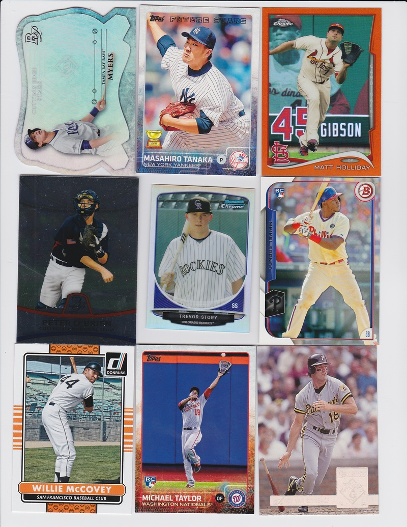 329716e0aa7 647. 2014 Bowman Platinum Cutting Edge Stars Die Cut Wil Myers-Rays Padres  648. 2015 Topps Future Stars Masahiro Tanaka-Yankees