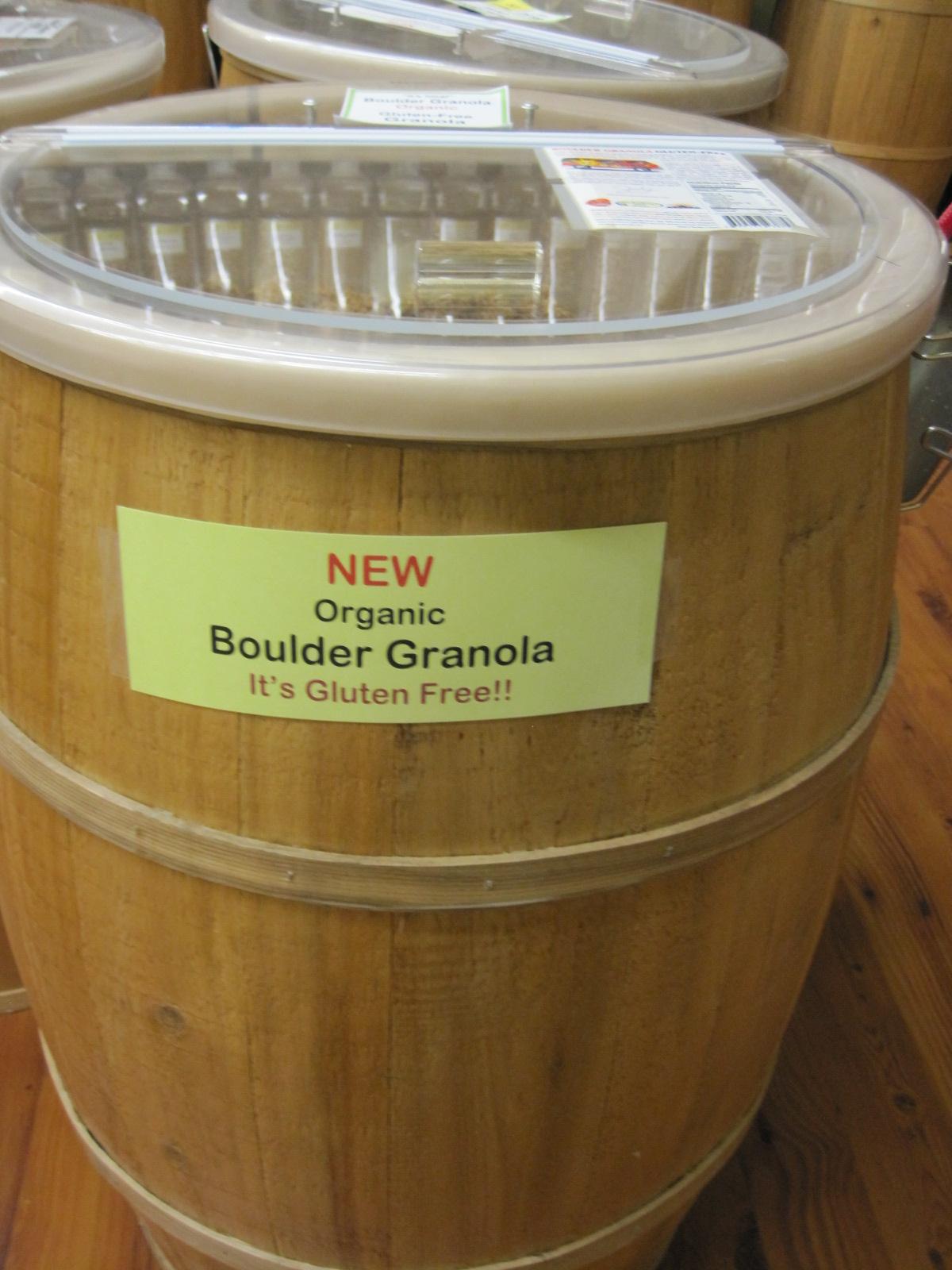 gluten free Boulder Granola