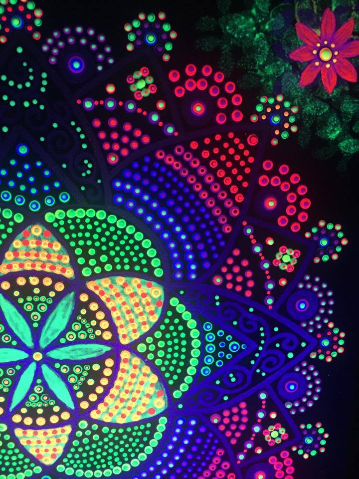 Seeds of Life Mandala UV Light