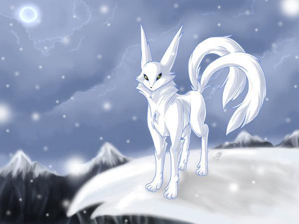 Anime White Kitsune Yuki Kiba | The Foolis...