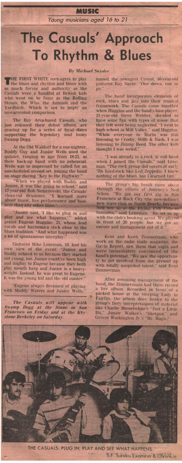 The Casuals Article, The Chronicle Pink Section