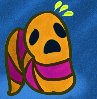 very distressed and colourful worm.png (fun garbage)